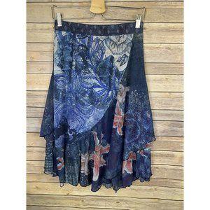Desigual NWT Medium Nala Mesh Floral Skirt Layered